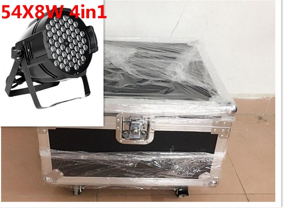 4pcs54x8W + Flight case luce par del led RGBW 4in1 Led Par Luce DMX Stage Lights бюстгальтер luce del sole luce del sole lu015ewabkf5