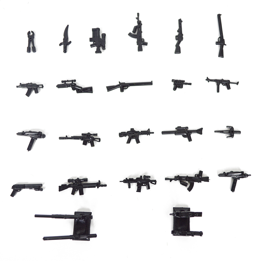 100pcs lot Scale Model Building Blocks DIY Military Series Police Gun Children Gift Toys in Blocks from Toys Hobbies