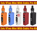 Original joyetech evic vtwo mini cubis pro kit firmware actualizable w 80 w evic vtc mini mod kit de cigarrillos electrónicos