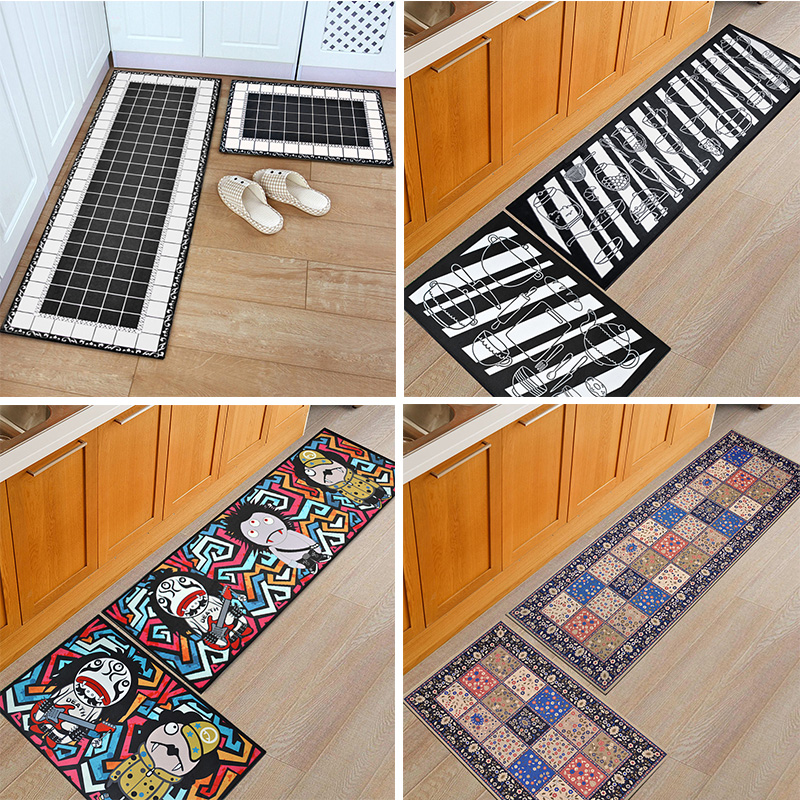 Washable Kitchen Mats with Anti Slip Bottom for Kitchen and Hallway Entrance Floor 2