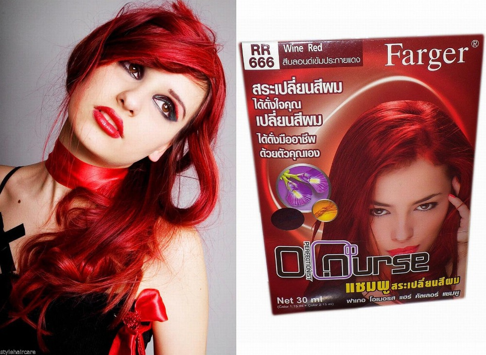 de couleur de cheveux permanente cheveux colorant - Shampoing Colorant Rouge