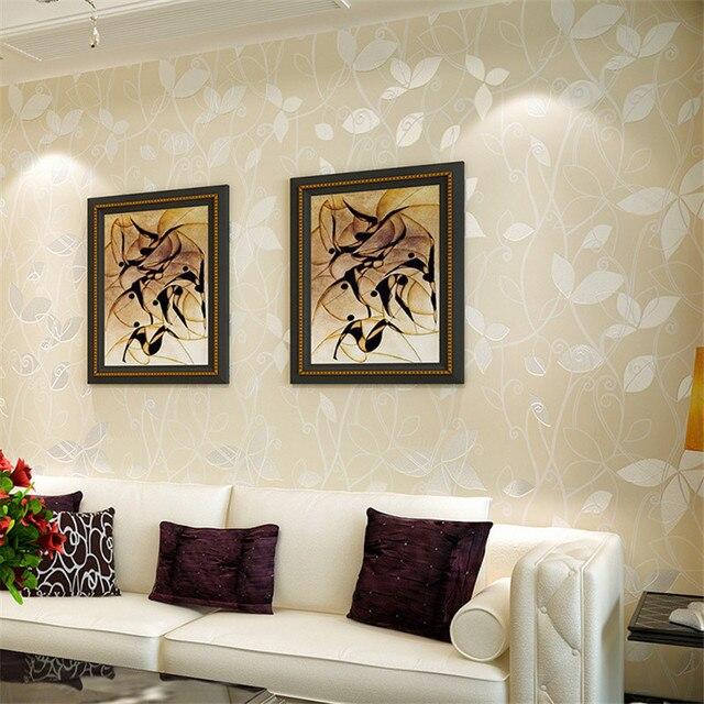 US $26.13 33% OFF|Beibehang Warme 3D kleine blatt rosa flach grün 3D tapete  schlafzimmer wohnzimmer hotel korridor hintergrund 10 mt tapete rolle in ...