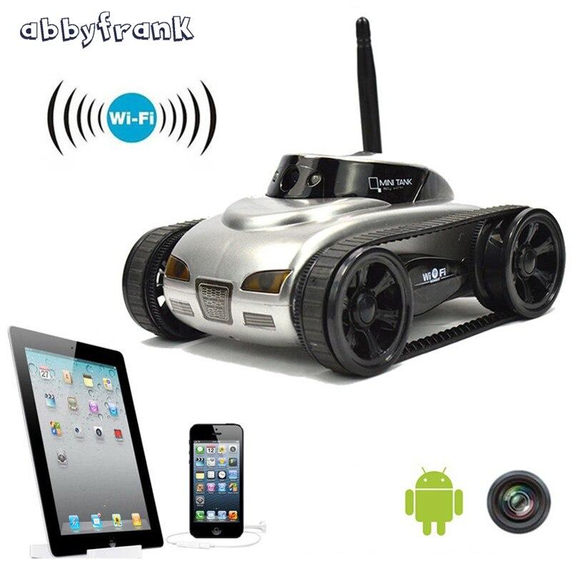 Abbyfrank Réservoir RC Voiture 777-270 Tirer Robot Avec 0.3MP Caméra Wifi Téléphone IOS Télécommande Mini Espion Réservoirs jouets Pour Enfants