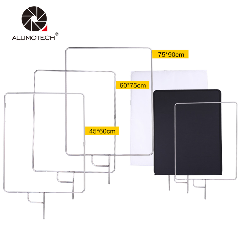 Alumotech Handheld 18 23 29 5in1 Frame Diffusor Reflector Multi Collapsible For Lighting Camera Video Studio