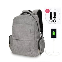 Fashion USB Charging Diaper Bags Maternity Baby Care Nappy Bag Brand Large Capacity Dry Wet Designer Travel Backpack Nursing Bag