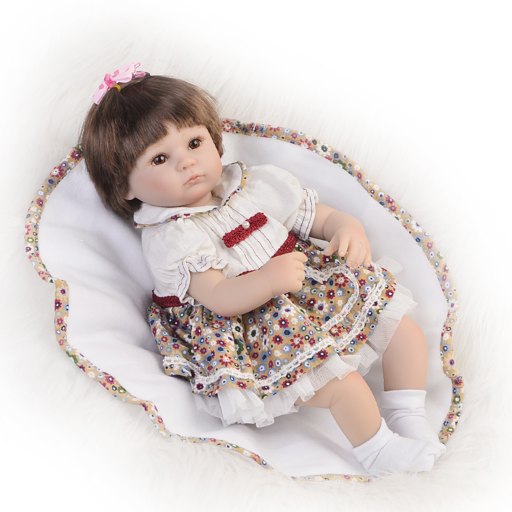 Hot Sale Realistic Baby Dolls Reborn Girl 16 Lifelike Soft Silicone Babies Reborn Baby Doll Toys For Children Christmas Gift