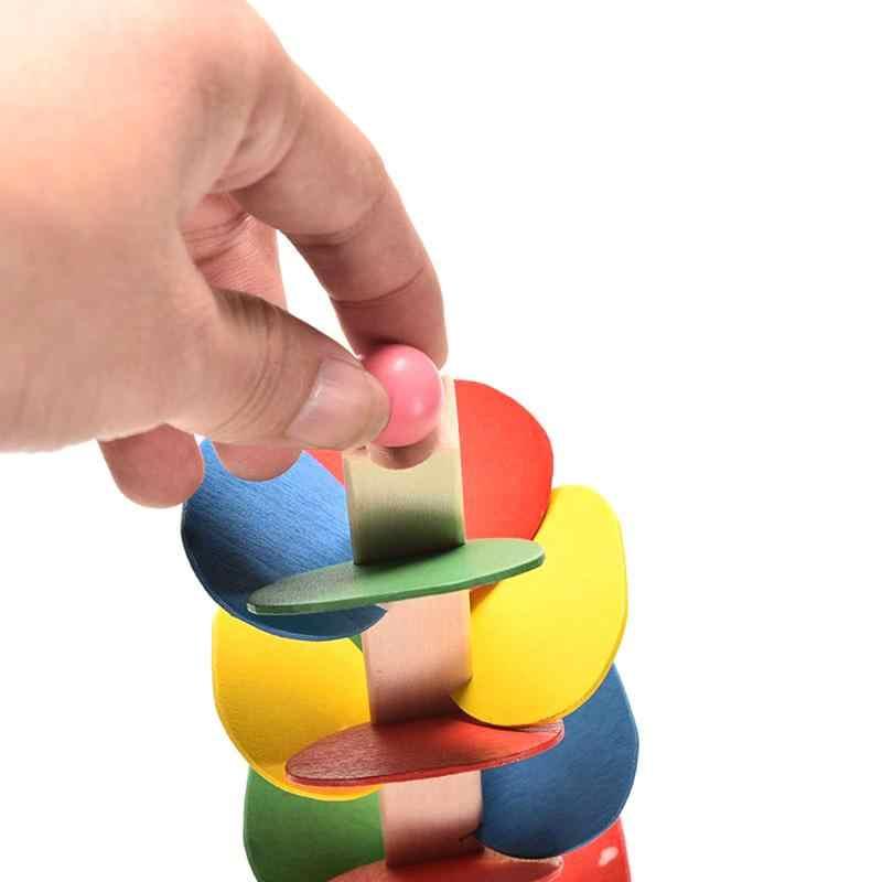 Деревянное дерево мраморный шар беговая дорожка игра Монтессори детские блоки модель здания деревянная игрушка детская развивающая игрушка Рождественский подарок