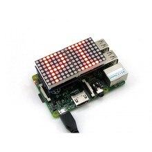 MAX7219 Control Red 8×8 DOT LED Matrix Display Designed for Any Revision of Raspberry Pi Model A+/ B/  B+ 2 B /3 B