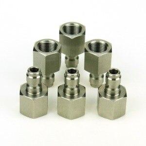 Image 3 - New ペイントボールエアガン PCP エアガンクイックディスコネクト充電ホースアダプター糸 1/8NPT & 1/8BSP & m10 * 1 ステンレス鋼乳首記入