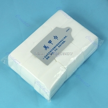900pcs Nail Art Tips Manicure Polish Remover Clean Wipes Cotton Lint Pads Paper -B118