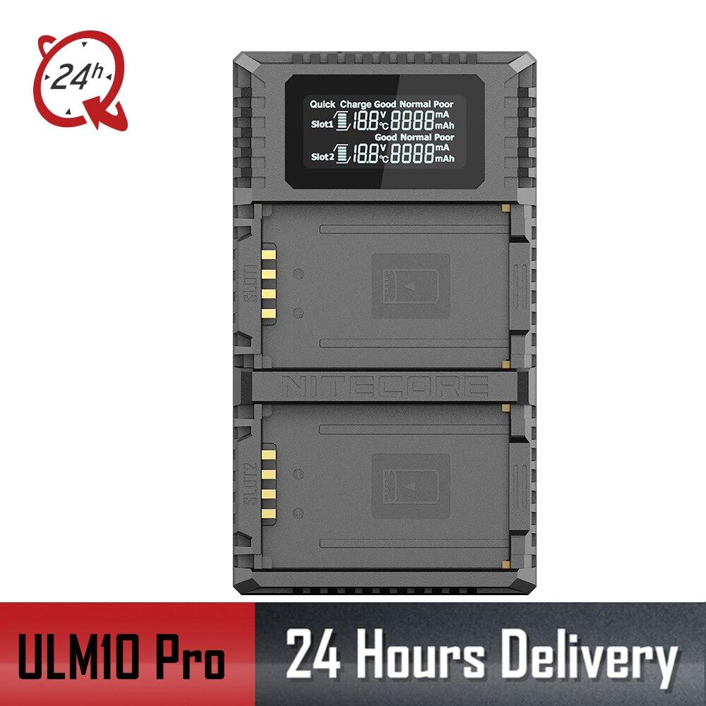 D'origine Nitecore ULM10 Pro Numérique Double Slot Caméra Voyage Chargeur Pour Leica BP-SCL5 Batteries, Compatible Avec M10