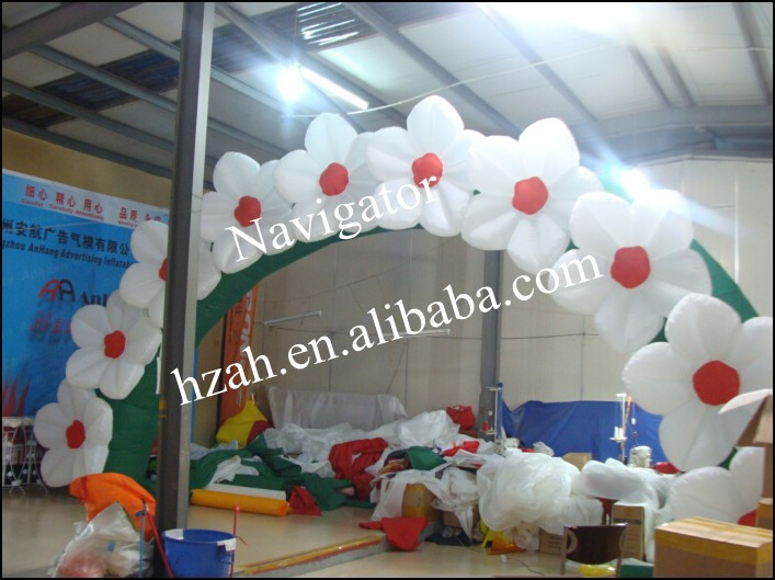 Decoration Inflatable Flower Arch/Inflatable Archway 420d oxford inflatable arch inflatable archway 6 3 m with your logo