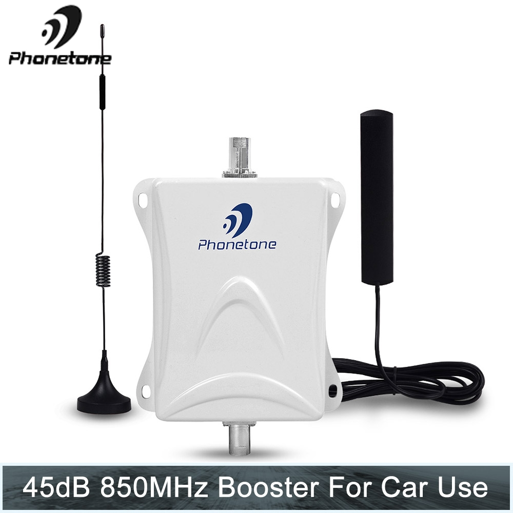 Phonetone 850mhz Car Use Cell Phone Amplifier Mobile Signal Booster Repeater Kit With Cable + Antenna