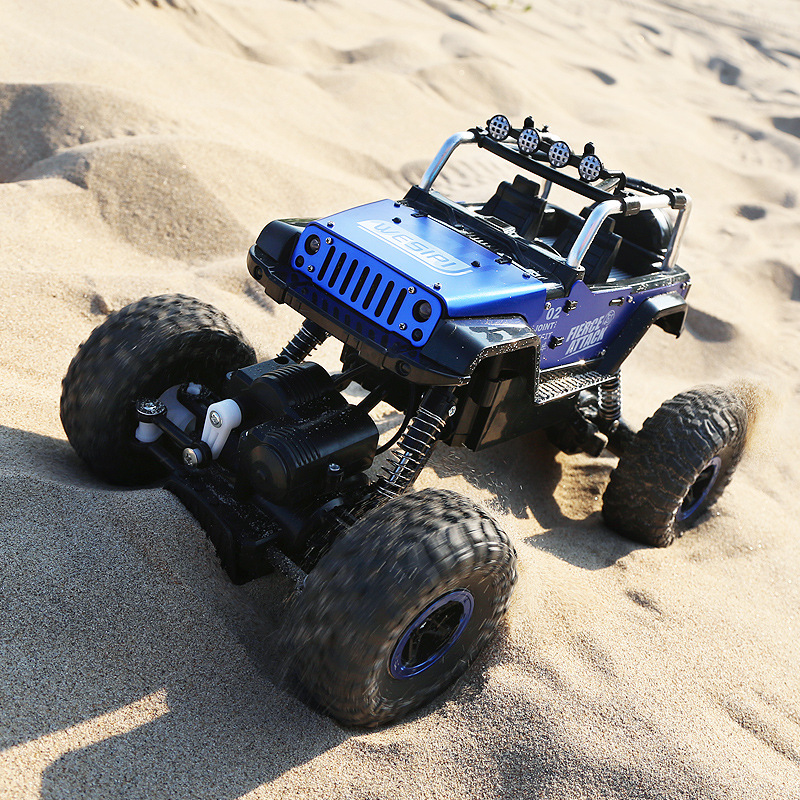 Radio-controlled Toys Alloy Wrangler 4WD Remote Control Stunt Climbing Vehicles Children Electric Metal Cars Juguetes Brinquedos