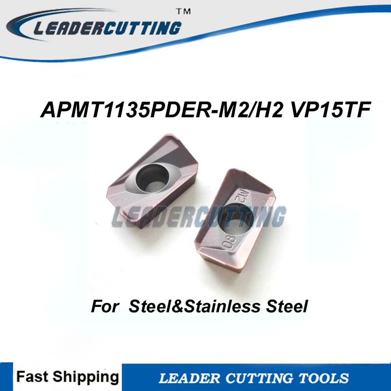 10pcs APMT1135PDER-M2 VP15TF Carbide Inserts for BAP300R Turning Tool