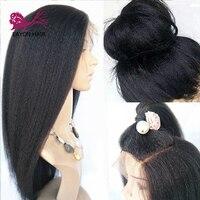 EAYON курчавые прямые 360 кружевных фронтальных париков толстый конец 360 Кружева Фронтальные человеческие волосы парики для женщин Итальянски
