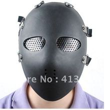 Полная защита лица маска для охоты страйкбол очки маски, черный