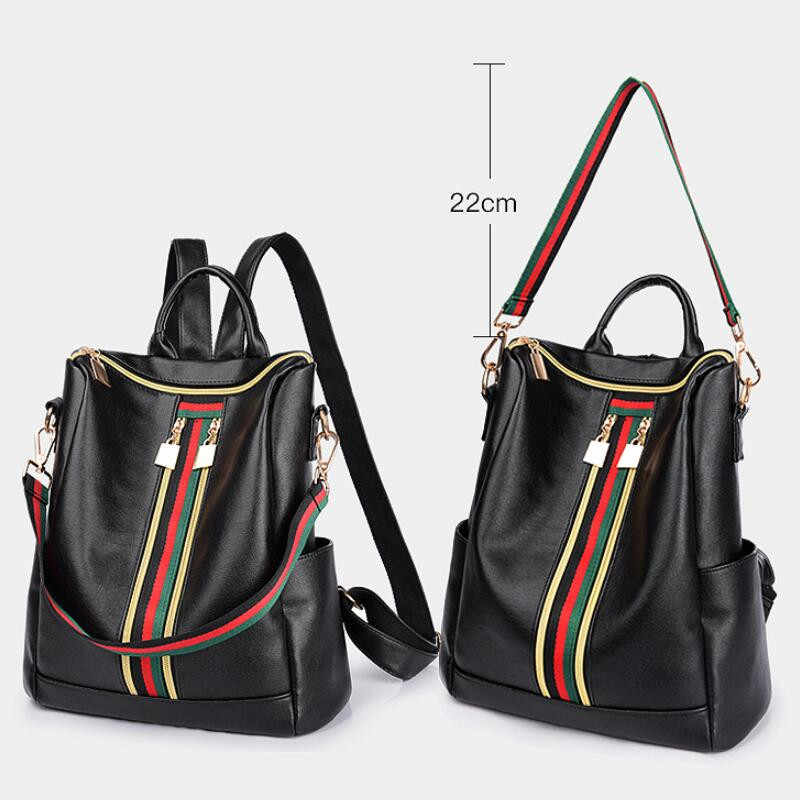 Women Leather Backpack High Quality Black Bolsas Mochila Feminina Large Girl Schoolbag Travel Bag Luxury Women Backpacks