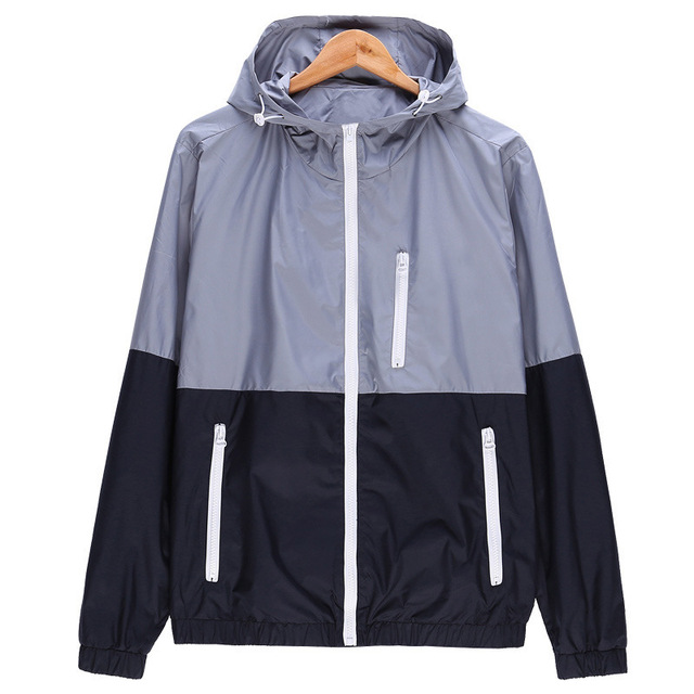 New hooded hip-hop jackets streetwear night shiny zipper fashion harajuku windbreaker top coats Dropshipping brand clothes