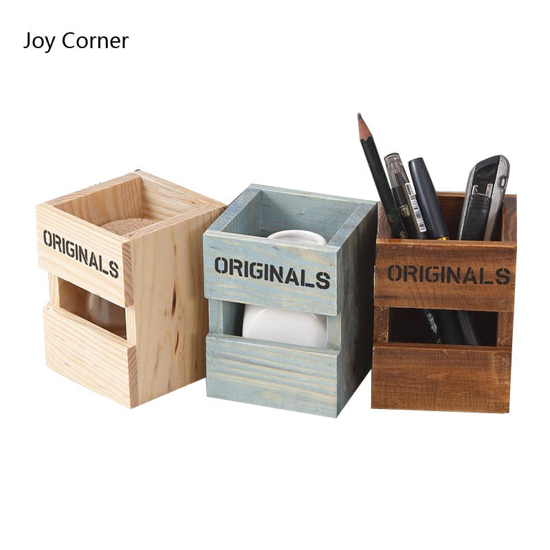 2018 Originals Classic Pen Holders Pine Tree Wood Office Desk Decoration Office Pencil Holder Desktop Organizer JOY CORNER Store manager folders with 4000mah mobile power multifunction cument holder manager holders office supply work accessories