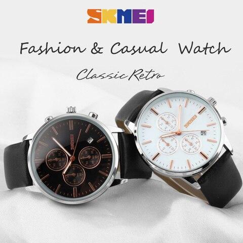 New 2018 Men Watches Luxury Top Brand SKMEI Fashion Men Big Dial Leather Quartz Watch Male Clock Wristwatch Relogio Masculino Multan