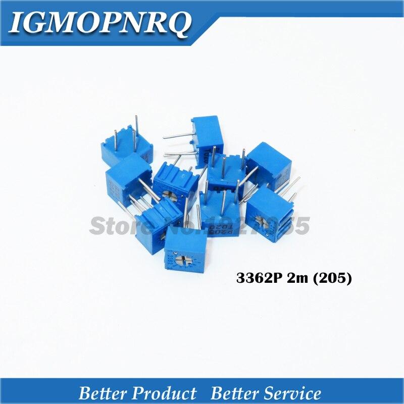 10 pièces/lot 3362P-1-205LF 3362P 205 2m ohm Trimpot tondeuse potentiomètre résistance Variable nouveau