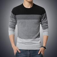 Повседневный мужской трикотажный свитер с круглым вырезом 1