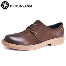 Spring Casual shoes male Genuine Leather British business Leisure men all-match cowhide Men Dress Shoes mens luxury