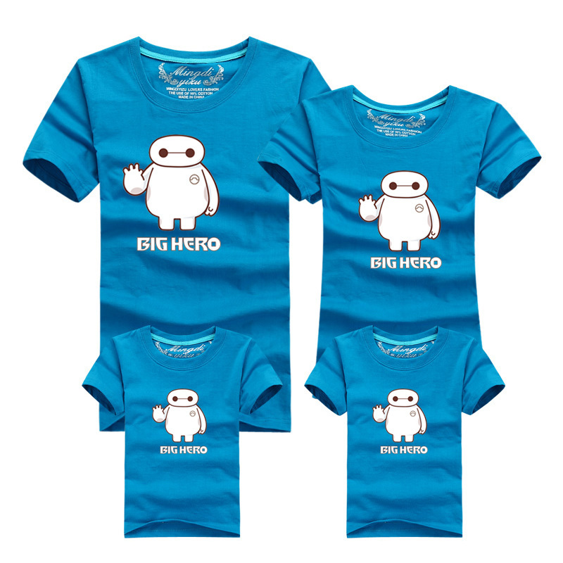 1487297d 13 Colors Cartoon T shirt Family Matching Clothes Mother Daughter Father Son  Sport Clothing Summer Teenage Clothing Family Look