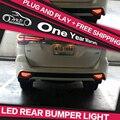 AKD Car Styling para FORTUNER LED Largura Luz De Sinal DRL Luz Fog Lamp LED Rear Bumper luz Acessórios Para Automóveis