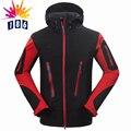 Новые мужские случайные капюшоном пальто куртки водонепроницаемый ветрозащитный композитный бархат Мягкая оболочка Тонкий срез куртка размер M-XXL