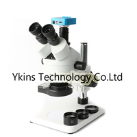 3.5X 90X Trinocular Microscope Continuous Zoom Stereo Microscope + 16MP HDMI USB Video Microscope Camera + 144 LED+ Stand