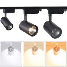 Pode ser escurecido 10 w 15 20 cob led faixa de luz led ferroviário lâmpada leds holofotes luminária para loja iluminação local ac110 220 v