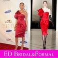 Jennifer lopez red one hombro vestido de cóctel vestidos formales