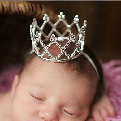 Bebé recién nacidos fotografiado Crown Princess Girls Crown Tiara Party Banquet Rhinestone Tiara Hairbands Accesorios