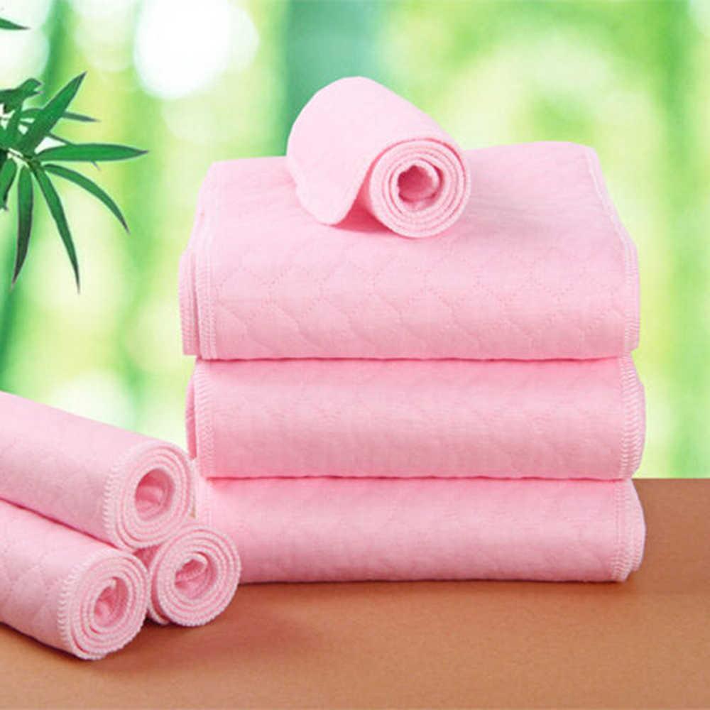 1 ชิ้น 3 ชั้นล้างทำความสะอาดได้ไม้ไผ่ผ้าฝ้ายเด็กผ้าอ้อม Breathable แทรก Boosters Liners