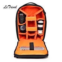 Multi function Camera Bag Cabin Suitcase Wheels Photographer Backpack Capacity Rolling Luggage SLR Camera Lens Bag Trolley
