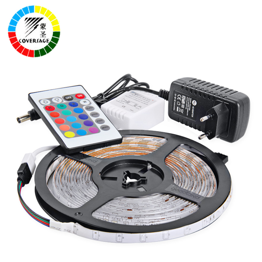 Outdoor 12 Volt 60leds Meter Led Strip Smd 5050 Rgb: Coversage LED Strip 5050 Waterproof DC12V Outdoor 5M IP65