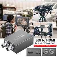 SDI zu HDMI/HDMI zu SDI mit Power Mini 3G HD SD-SDI Video Micro Converter Adapter mit Audio auto Format Erkennung für Kamera