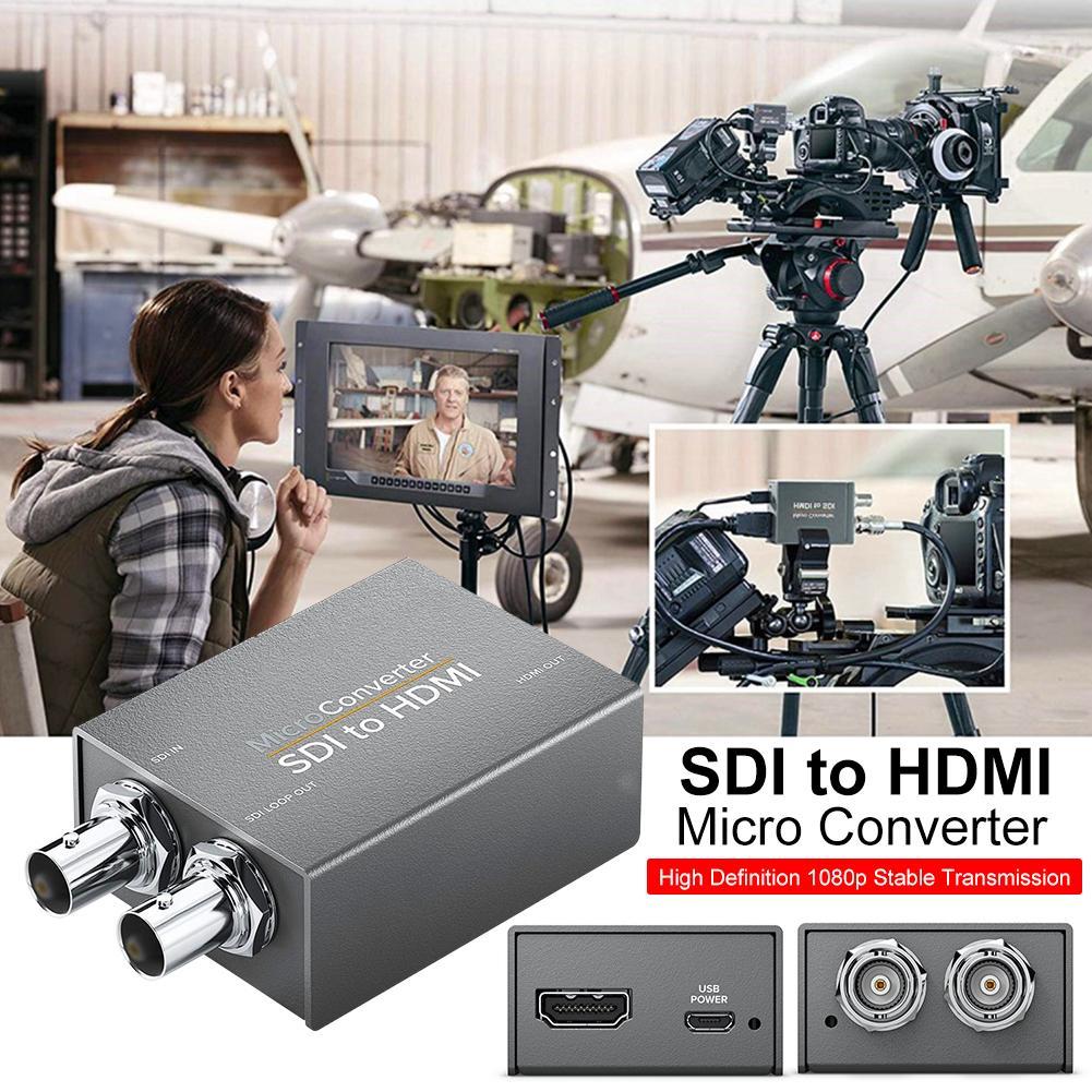 SDI para HDMI/HDMI para SDI com Poder Mini 3G HD SD-SDI Micro Conversor Adaptador de Vídeo com Áudio auto Detecção de Formato para a Câmera