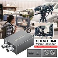 SDI to HDMI / HDMI to SDI with Power Mini 3G HD SD SDI Video Micro Converter Adapter with Audio Auto Format Detection for Camera