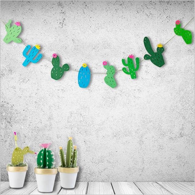 1pc Classical Plant Cactus Paper Garlands Classroom Decor Child