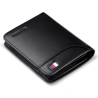 WILLIAMPOLO 2019 Genuine Leather Wallet Men Purse Cowhide Short Wallet Card Holder Husband's Gift Trifold PL305