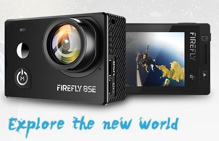 Em estoque hawkeye firefly 8se câmera de ação com touchscreen 4 k 30fps 170 graus super-view bluetooth fpv esporte ação cam
