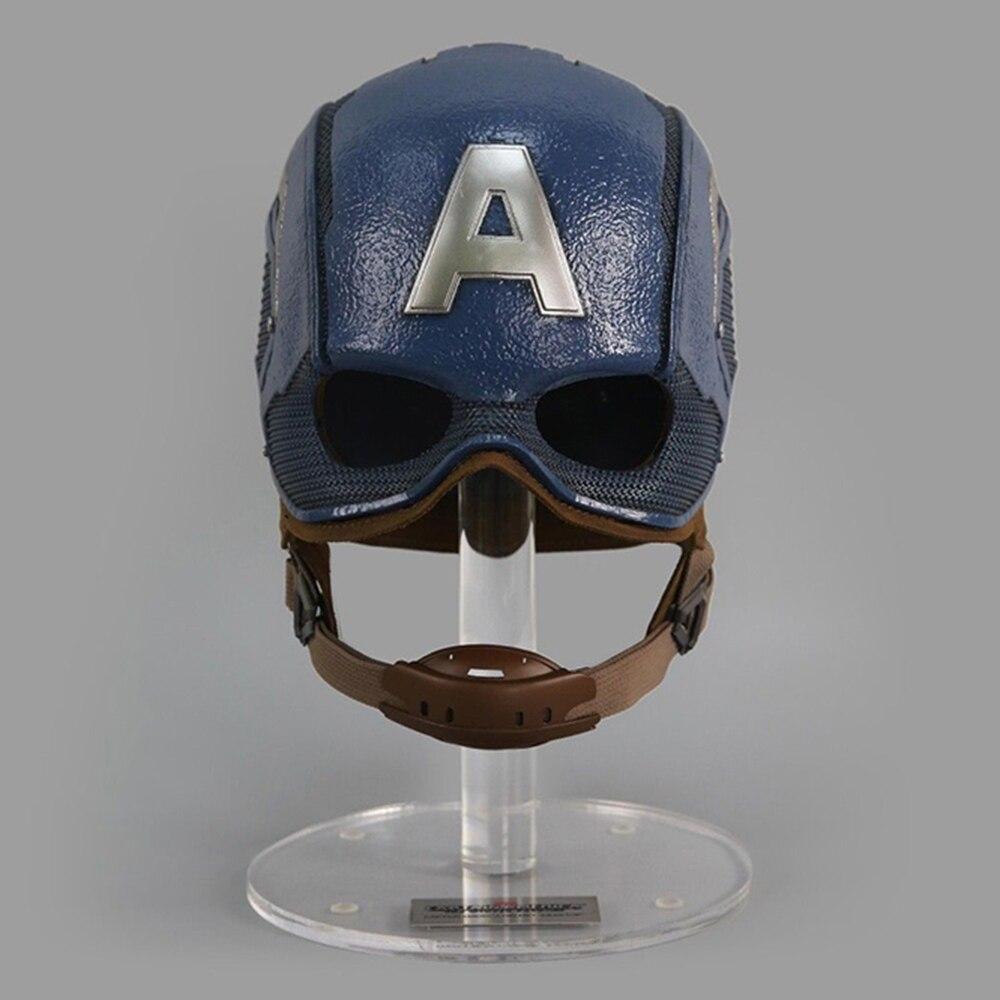 King Arts MPS028 Type 1/1 échelle portable capitaine casque américain pour homme réel Cosplay jouets à collectionner