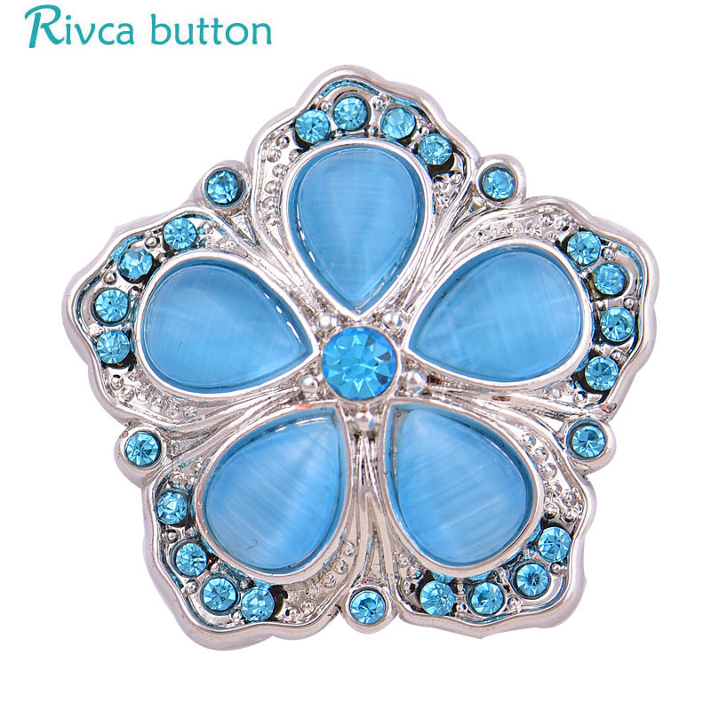 2018 High Quality Mixed Snap Button Jewelry Rhinestone Flower Button Fior Elegant Women diy Bracelet necklace Fit Charm Button