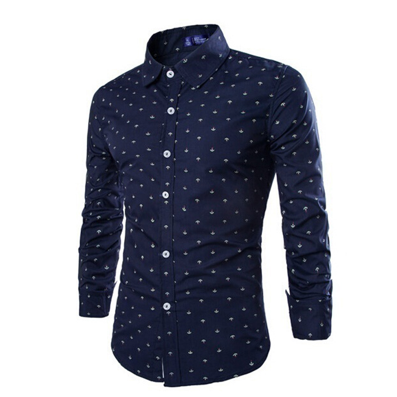 Zogaa Men Slim Shirt Long Sleeve Cotton Shirts Plus Size S-2xl Print Casual Male Shirts Brand Clothing High Quality Dress Shirt