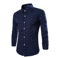 ZOGAA Men Slim Shirt Long Sleeve Cotton Shirts Plus Size S-2XL Print Casual Male Brand Clothing High Quality Dress