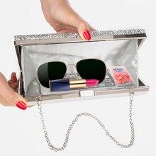 Women Evening Clutch Bag made with Diamond Sequin
