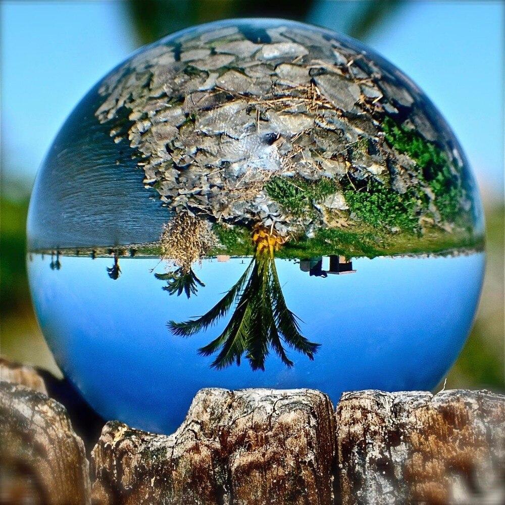 130mm fotografia kryształ Ornament na całym świecie wróżby kulka kwarcowa craft jasne duże k9 szkło kula dekoracji kula w Figurki i miniatury od Dom i ogród na  Grupa 1